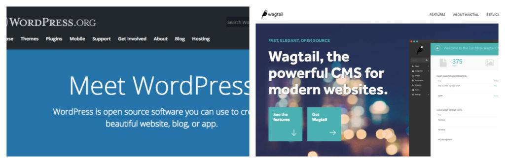 WordPress vs Wagtail