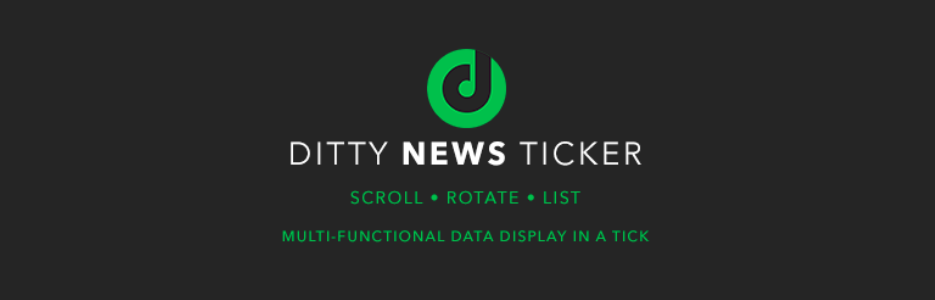Ditty News Ticker
